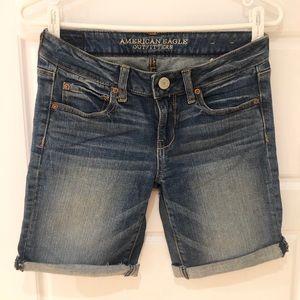 🌿2/$15🌿 AE Rolled Midi denim shorts